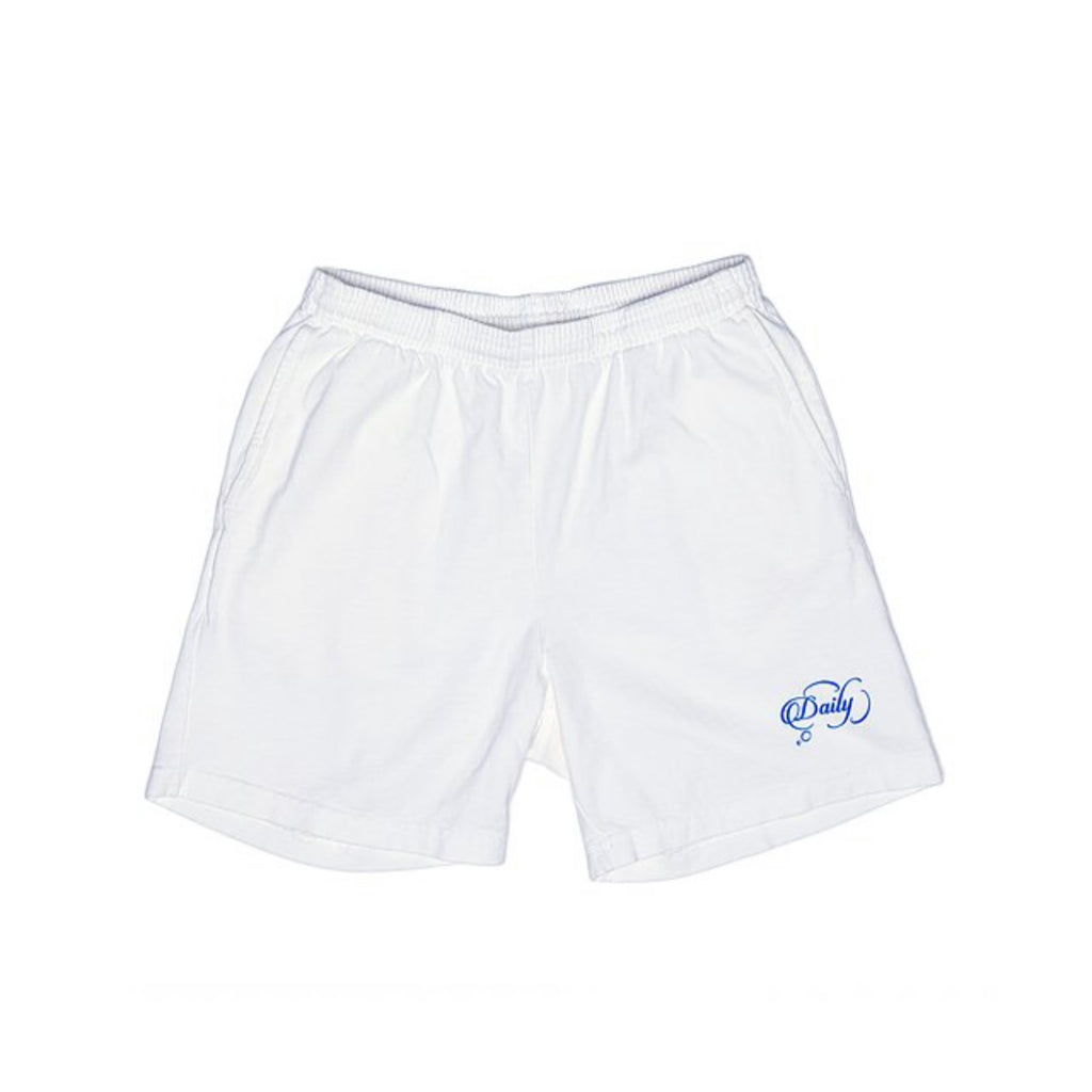 """Classic"" Mid-Length Shorts (White) By Daily Thoughts LA"