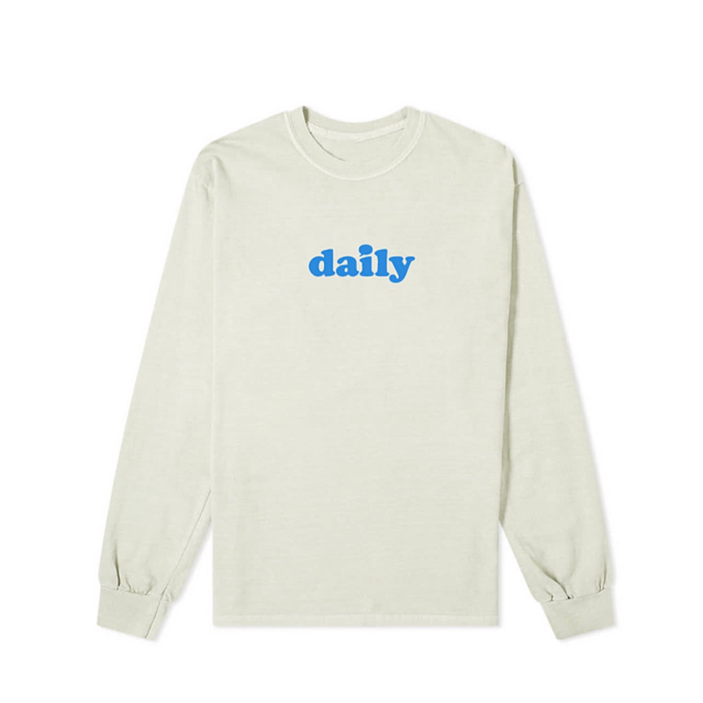 """Logo"" Long sleeve T-shirt (Cream) By Daily Thoughts LA"