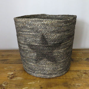 Grey Grass Basket with Star