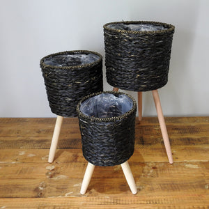 Black Basket on Stand