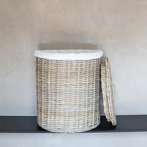 Rattan Laundry Baskets with Lids and Linen Inner Bag