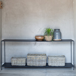 Rattan Rectangle Kubu Grey
