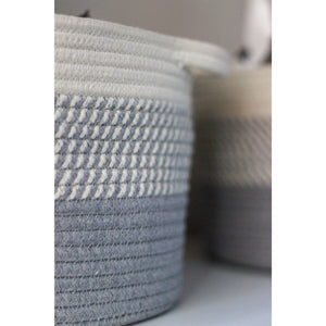 Grey Ombré Cotton Basket