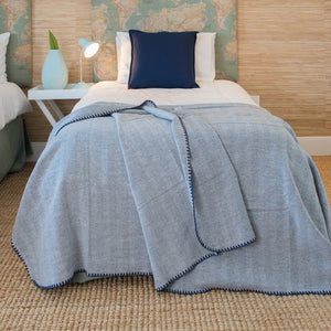Winter Herringbone Throws - Haven & Earth