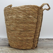 Load image into Gallery viewer, Oval Natural Grass Woven Basket with Grass Handle
