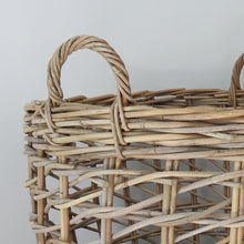 Load image into Gallery viewer, Rattan Round Kubu Grey Open Weave