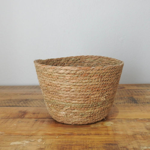 Woven Grass Flower Pot