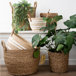 Natural Grass Basket with Lid