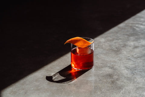 Negroni With Orange Garnish At Never Never Gin Distillery