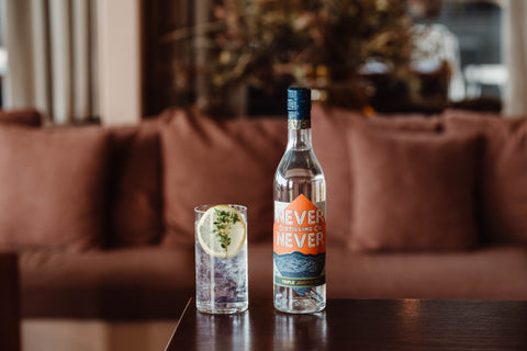 Triple Juniper Gin And Tonic Serve At Never Never Distillery.