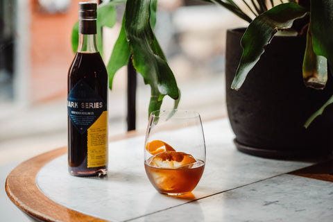 Amaro Over Ice With Never Never Bottle