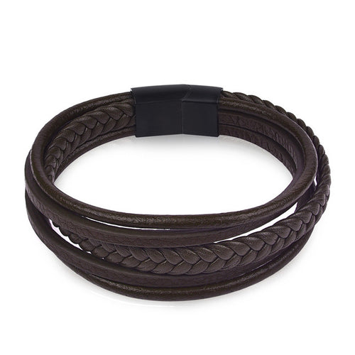 Braid Leather Bracelet for Men