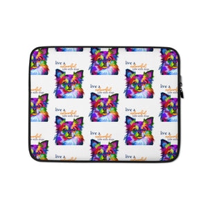 Colourful life with dogs Laptop Sleeve