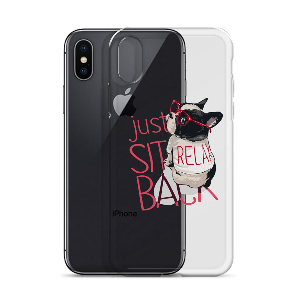Just sit back iPhone Case