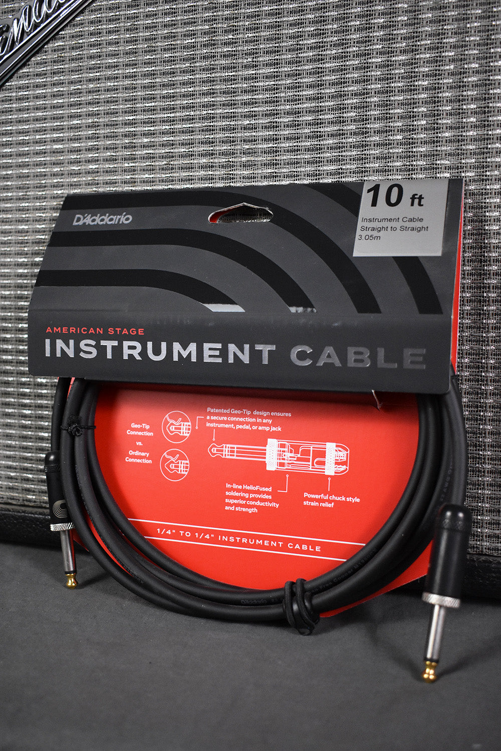 D'Addario Planet Waves PW-AMSG-10 American Stage Instrument Cable 10'