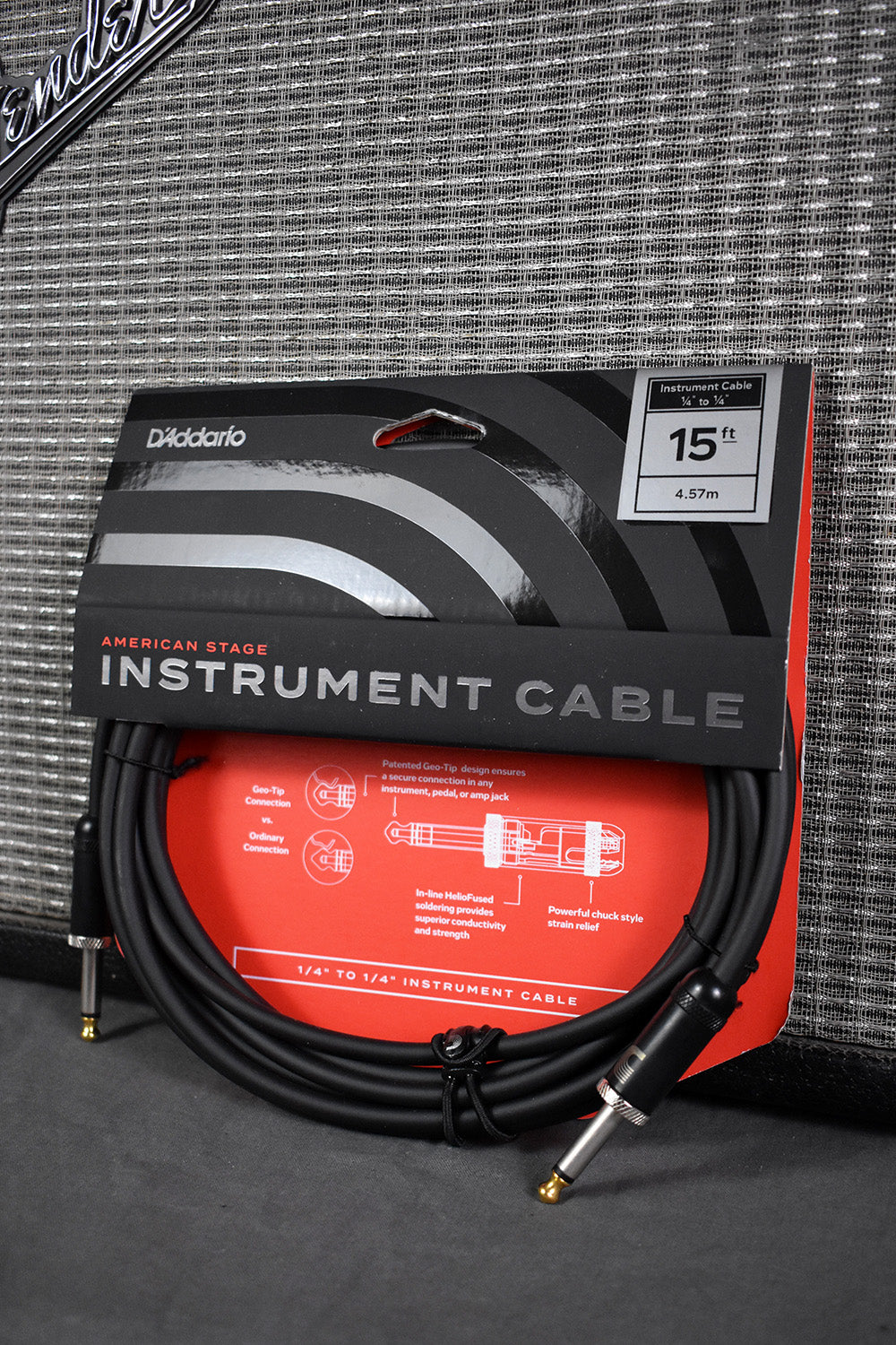 Planet Waves American Stage Instrument Cable 15 ft Guitar Cord PW-AMSG-15
