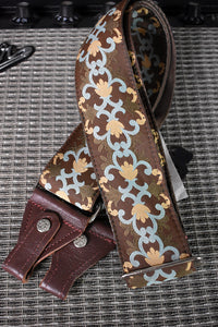 Souldier Brighton Brown/Light Blue Banjo Strap