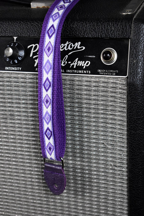 Souldier Cottonmouth Alternating Diamonds on Purple Mandolin Strap