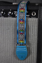 Load image into Gallery viewer, Daydream Black/Silver w/ Rainbow Flowers Strap