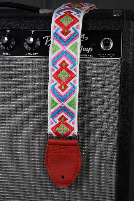 Diamante Multicolor on White Strap