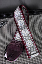 "Load image into Gallery viewer, Medallion 1.5"" Maroon Strap"