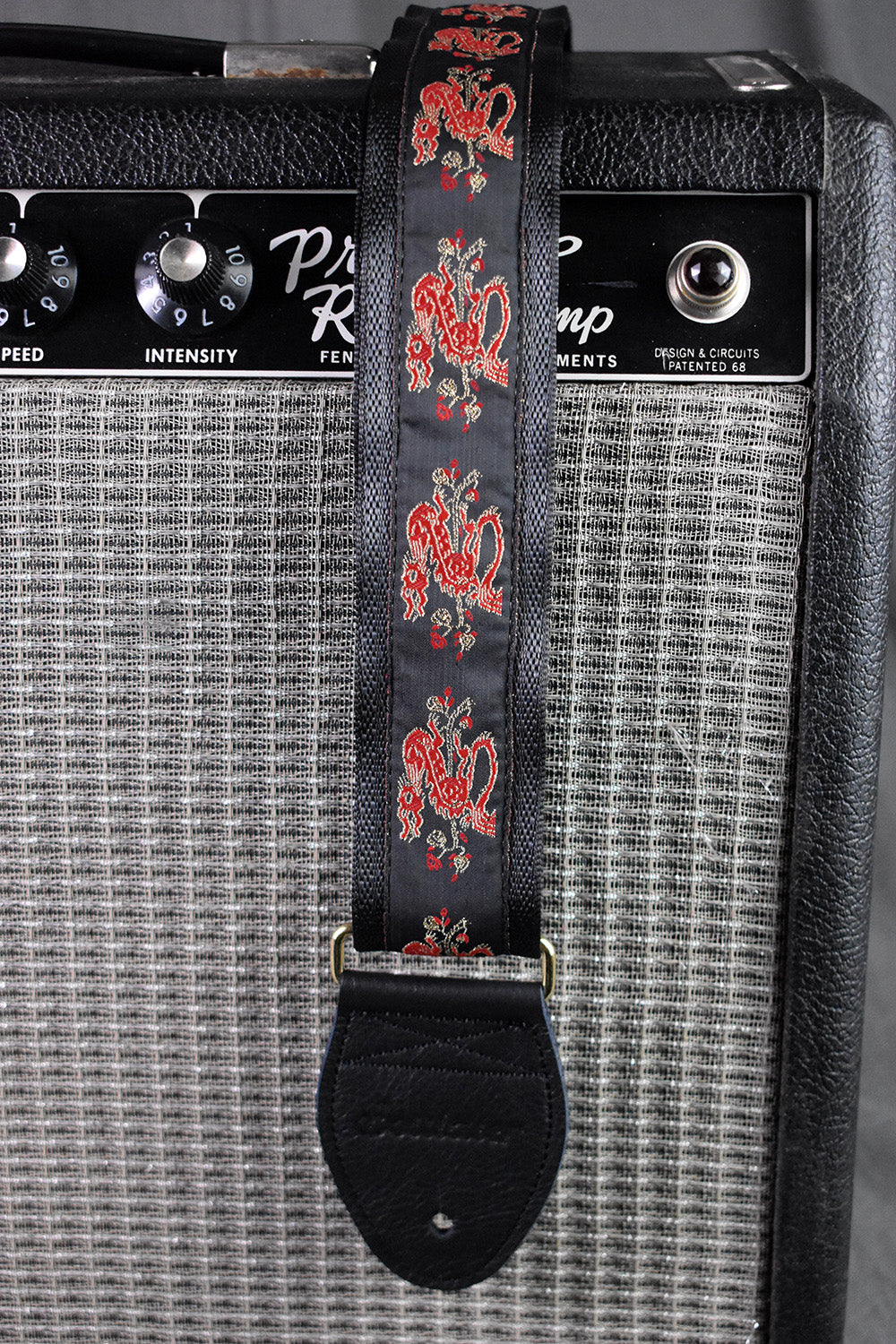 Red Dragon on Black Strap