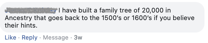 20000 names on ancestry tree