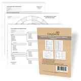 Large-Print Genealogy Charts and Forms Kit (30 Sheets)