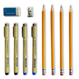 DELUXE Archival-quality pen and pencil set