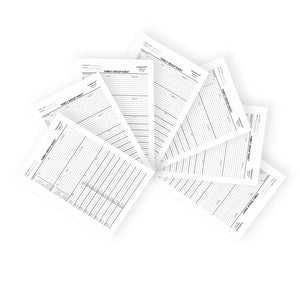 Blank Two-Sided Family Group Sheets for Genealogists (7-Pack) by EasyGenie