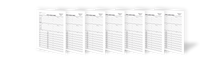 Load image into Gallery viewer, Blank Two-Sided Family Group Sheets for Genealogists (7-Pack)