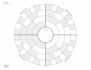 5 Generation Circle Chart for Adoptees and Family Members (22 x 17 inches, single sheet)