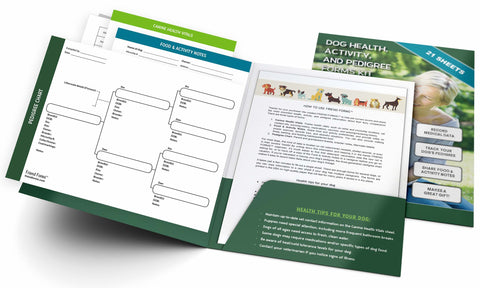 Dog Health, Activity, and Genealogy Forms Kit (21 Sheets)