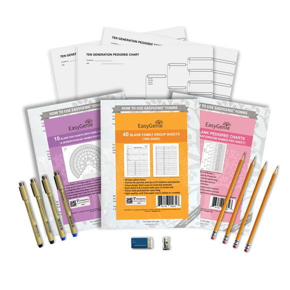 Professional Genealogy Charts Gift Bundle