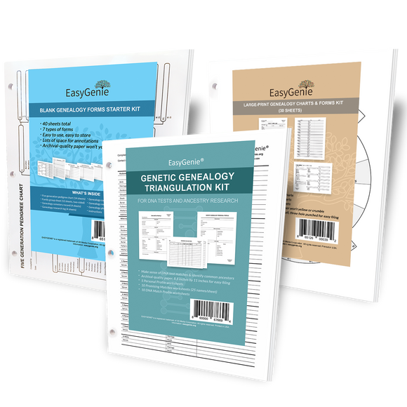Genealogy Charts & Forms Starter Bundle