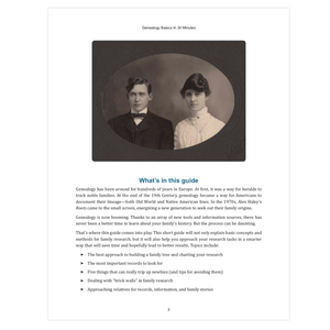 Genealogy Basics In 30 Minutes (PDF)