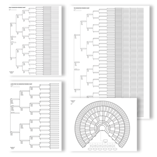 Big Genealogy Charts Sampler