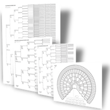 Load image into Gallery viewer, Big Genealogy Charts Sampler