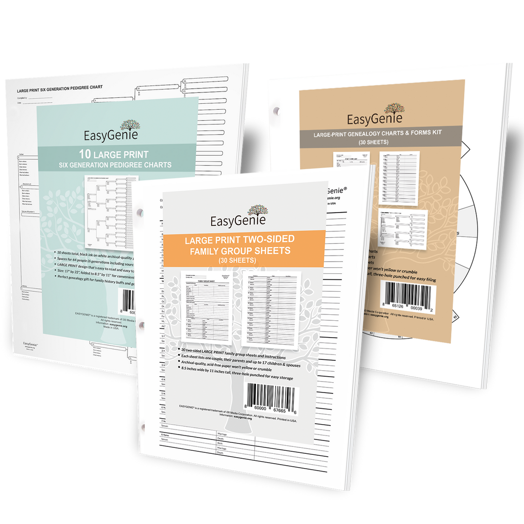 LARGE PRINT Charts & Forms Bundle