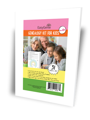 Genealogy Kit for Kids (31 sheets)