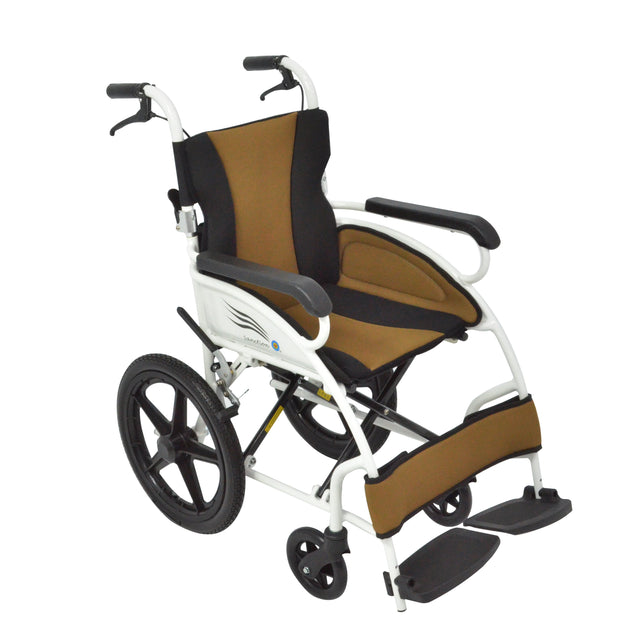 Sanction Lightweight 9DE1-16 Aluminium Standard Attendant Wheelchair with Folding backrest - Sanction Industry Co., Ltd.