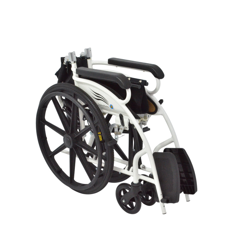 Sanction Lightweight 9DE1-22 Aluminium Standard Self-Propelled Wheelchair with Folding backrest - Sanction Industry Co., Ltd.