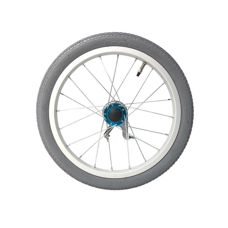 "P-WAC-16-01-02 L 16''x1.5"" Fixed Aluminum Rim with Pneumatic Tires Presta Valve (With Drum Brakes) - Sanction Industry Co., Ltd."