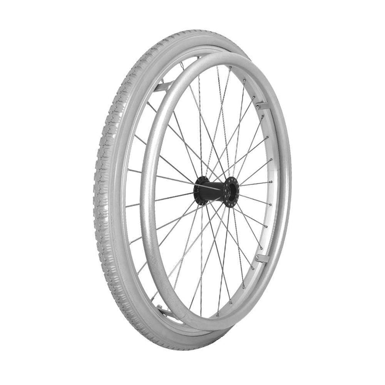 P-WAQ-22-01-01   22''x 1 3/8  Quick Release Aluminum Rim with PU Tires with Aluminum Hand Rim - Sanction Industry Co., Ltd.