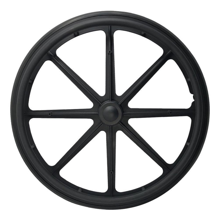 P-WP-24-01-01    24''x1 Fixed Plastic Rim with PU Tires - Sanction Industry Co., Ltd.