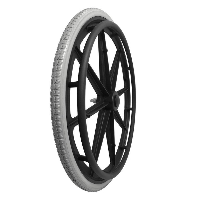 P-WP-24-02-01     24''x1-3/8 Fixed Plastic Rim with PU Tires - Sanction Industry Co., Ltd.