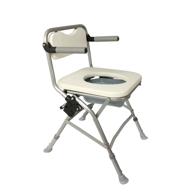 Sanction Lightweight Aluminium Padded Foldable Travel Bedside Commode - Sanction Industry Co., Ltd.