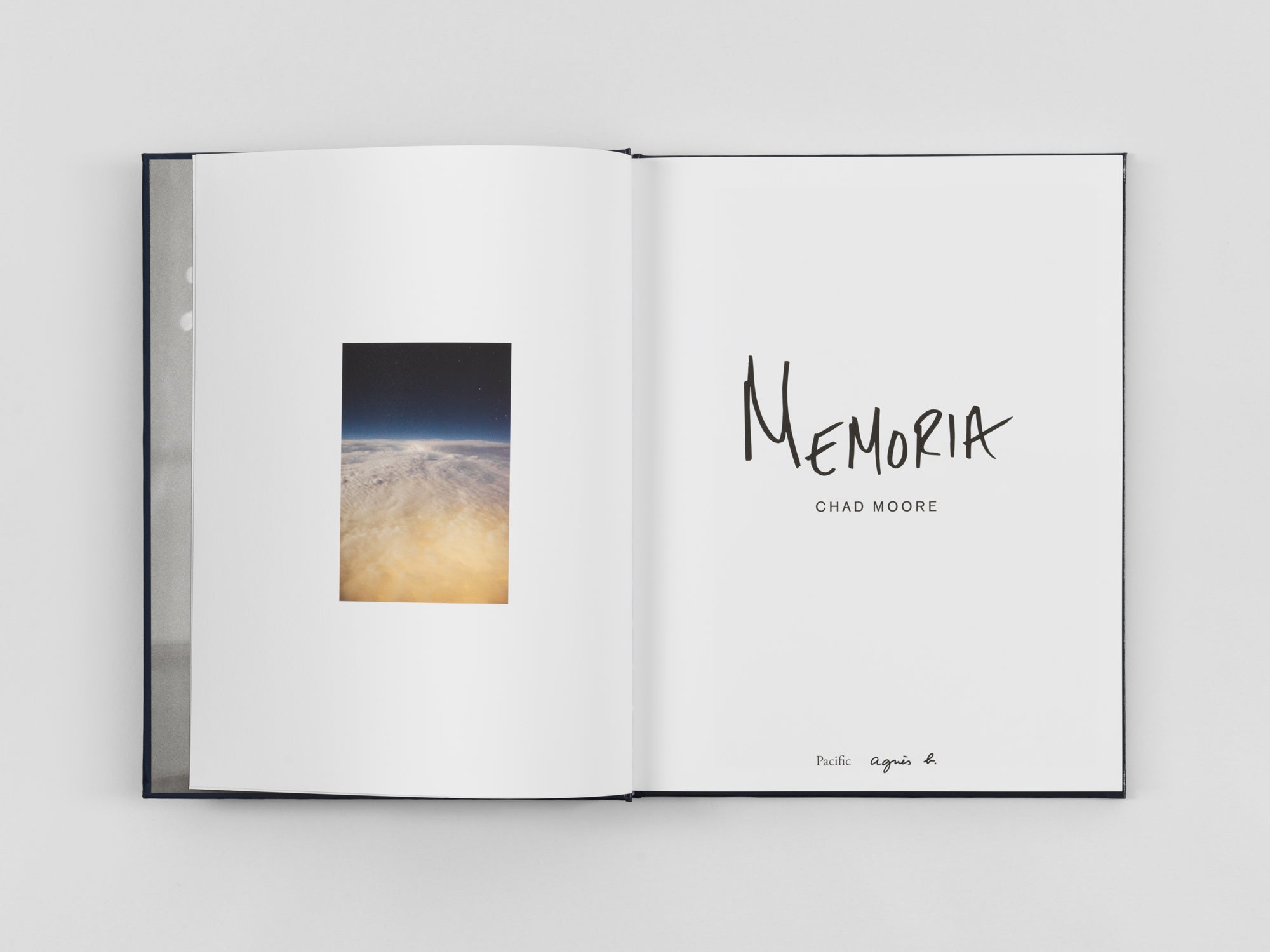 Memoria by Chad Moore, designed by Pacific Books and published by agnes. b. and Pacific