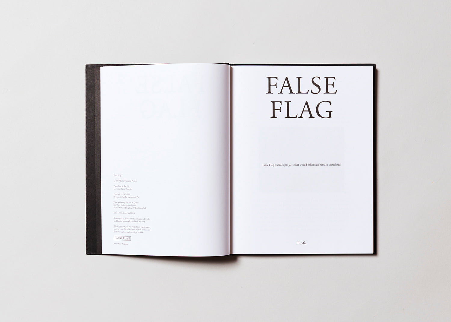 False Flag catalogue, designed and published by Pacific
