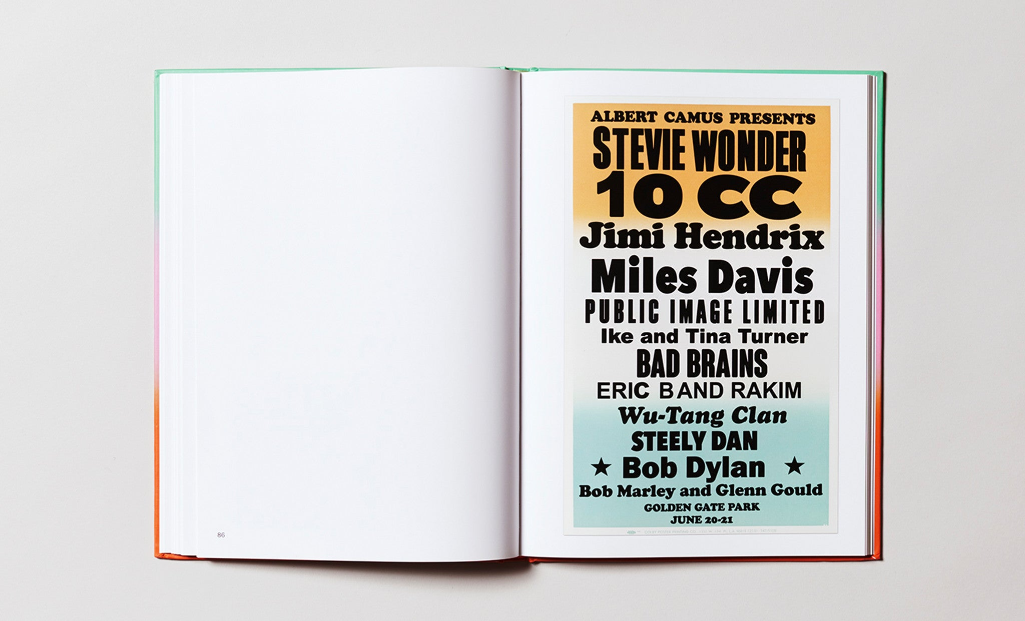 Imaginary Concerts book, by Peter Coffin, designed by Adam Turnbull and Pacific, published by Printed Matter and Anthology Editions